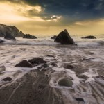Foamy Sea View with Rocks