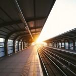 Skytrain Platform at Sunset